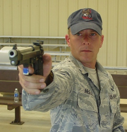 TSgt McGloin with his .22