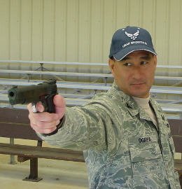 LtCol Ogawa with his .45 wadcutter